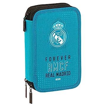Real Madrid - Estuche escolar Triple 41 accesorios Deluxe ...