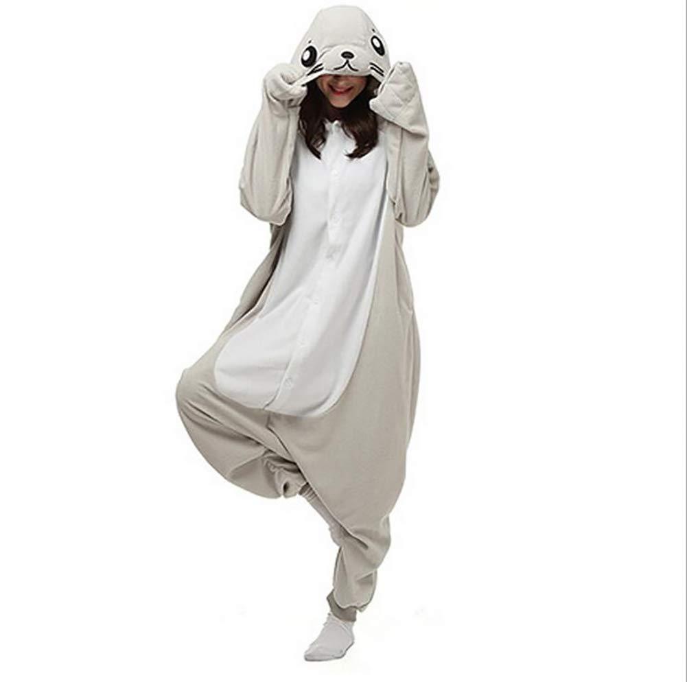 SHANGXIAN Kigurumi Onesies Cosplay Kostüme Homewear Frauen Winter Warme Erwachsene Cartoon Tier Graue Dichtung Pyjamas,XL B07KPG4BGY Kostüme für Erwachsene Üppiges Design | Bestellungen Sind Willkommen