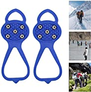 Universal Non-Slip Gripper Spikes Anti-Skid Snow Ice Climbing Shoe Spikes,Durable Cleats with Good Elasticity,