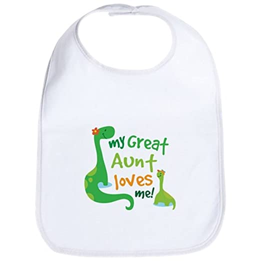 772f18067 Amazon.com: CafePress - My Great Aunt Loves Me - Cute Cloth Baby Bib ...