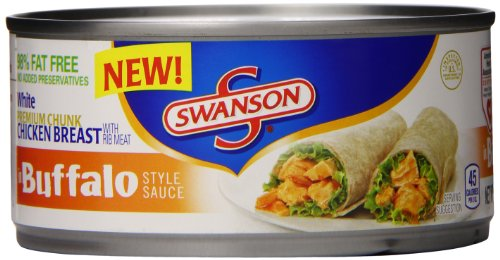 Swanson White Premium Chunk Chicken Breast, in Buffalo Style Sauce, 9.75 Ounce