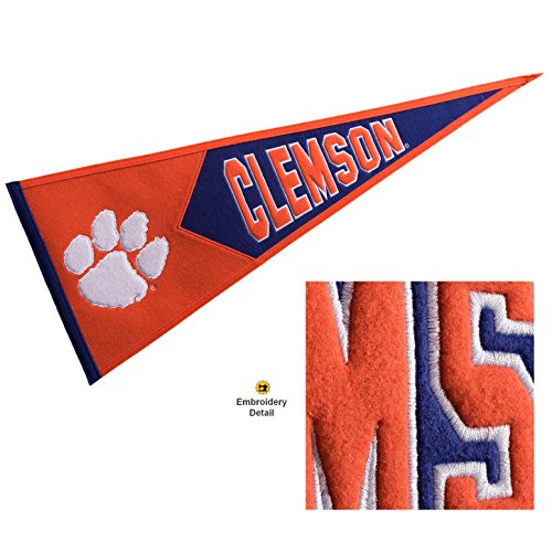 Winning Streak Clemson Tigers Wool Embroidered and Sewn Pennant from Winning Streak