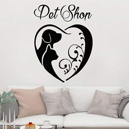 zqyjhkou Pet Shop Decor Pet Grooming Vinilo Vinilo removible ...