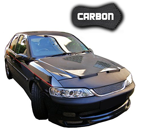 Hood Bra Opel Vectra B CARBON Bonnet Car Bra Front End Cover Nose Mask Stoneguard Protector TUNING