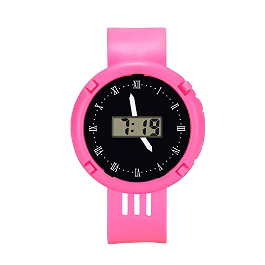 Reloj Infantil Impermeable Relojes LED Deportivo Reloj De Pulsera Electronico Nuevo Kelry (Rosa): Amazon.es: Relojes