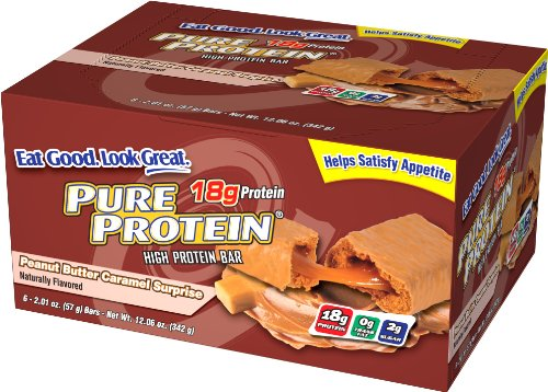 Pure Protein Peanut Butter, Caramel Surprise, 12.06 Oz, 6-Count
