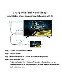 Adaptador Lightning a cable HDMI Adaptador AV digital de, ycd Lightning MHL a HDMI 1080P Cable HDTV para iPhone, iPad, Samsung, Smartphones Android Plug and Play