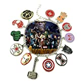 Marvel Infinity War AVENGERS ( 11 Themed Charms) Metal/Enamel Charm BRACELET By Superheroes Brand