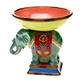Tracy Porter for Poetic Wanderlust Eden Ranch 3-D Elephant Pedestal Bowl