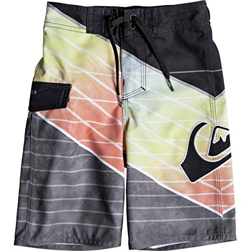 Quiksilver Little Slash Logo BOY Boardshort Swim Trunk, Black, 7