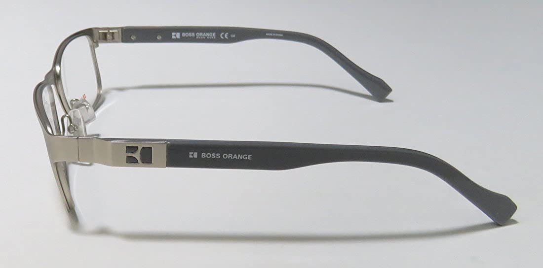 9be8f6ba1cc Amazon.com  Hugo Boss Orange Prescription Eyeglasses 0081 RXX - Matte  Palladium Grey (50 16 140)  Clothing