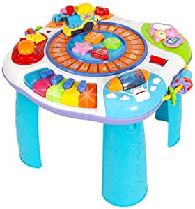 Winfun Multi Purpose Early Education Puzzle Game Table with Music
