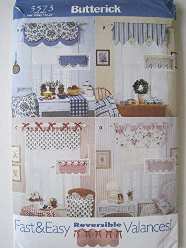 Used, Butterick 5573 Fast & Easy Reversible Valances Sewing for sale  Delivered anywhere in USA