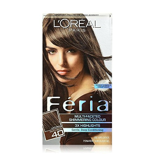 L'Oreal Feria Multi-Faceted Shimmering Colour, 40 Deeply Brown, 1 ()