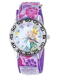 Disney Kids W001187 Fairies Plastic Printed Stretch Nylon Strap Watch