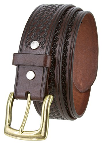 (Basketweave Men's Work Uniform Belt 1 1/2