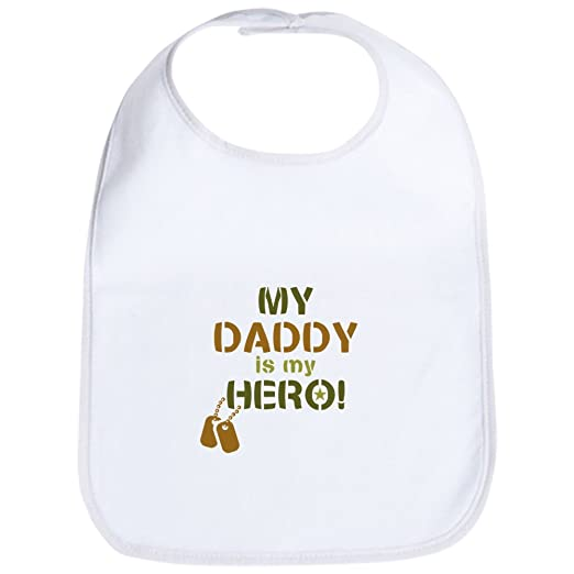 677cb72e Amazon.com: CafePress - Dog Tag Hero Daddy Bib - Cute Cloth Baby Bib ...