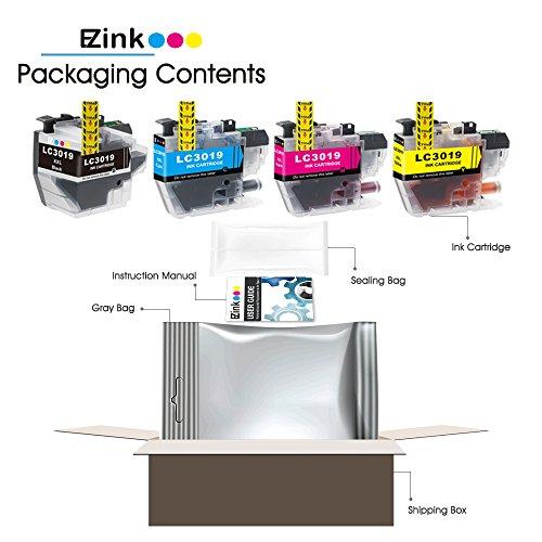 E-Z Ink (TM) Compatible Ink Cartridge for Brother LC3019 XXL LC3019BK LC3019C LC3019M LC3019Y (1 Black, 1 Cyan, 1 Magenta, 1 Yellow) 4 Pack works with MFC-J6930DW MFC-J5330DW MFC-J6530DW MFC-J6730DW Photo #8