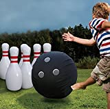Lawn Bowling Game, PVC Material, Inflatable, Jumbo Size, Safe For All Ages, Ideal For Indoor And Outdoor Spaces, Set Of 7 Pieces, Durable Construction & E-Book