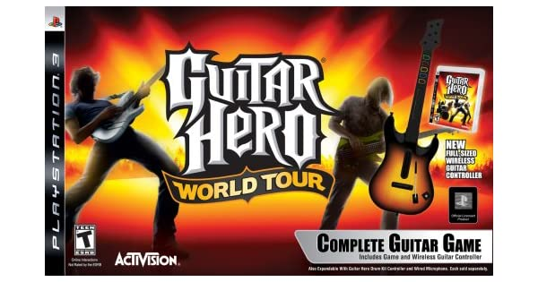 Amazoncom Ps3 Guitar Hero World Tour Guitar Kit Playstation 3