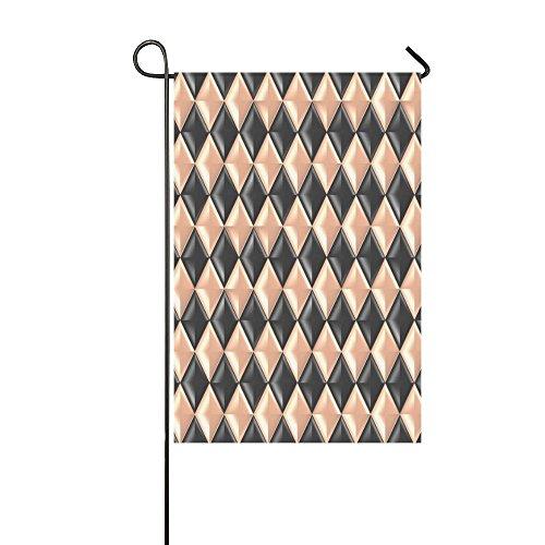 Home Decorative Outdoor Double Sided Metallic Diamond Design