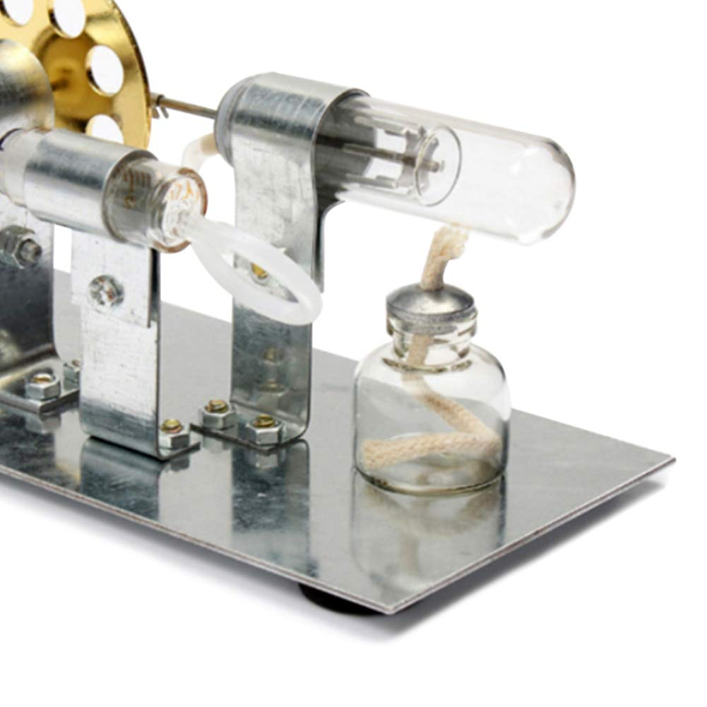 At27clekca Hot Air Stirling Engine Model Motor Steam Power Physics Toy Electric Generator by At27clekca (Image #7)