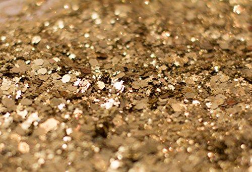 Gold Rockstar Chunky Glitter ✮Large 30g Jar COSMETIC GLITTER ✮ Festival Face Body Hair Nails by KARIZMA (Image #5)