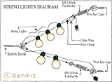Senmit Globe String Light Suspension Kit, Outdoor