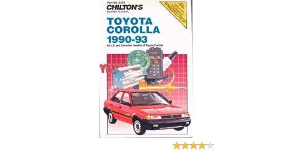 ch8434 chilton toyota corolla 1990 1993 repair manuals manufacturer rh amazon com