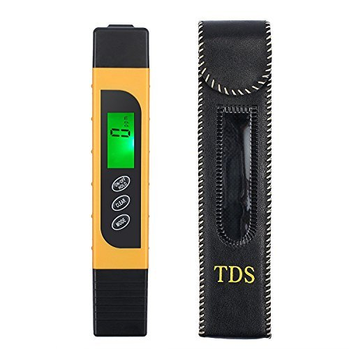 Kamtop Digital Water Quality Tester TDS EC Temperature Meter with Battery Leather Bag Range at 0-9990 with Color Change Function Water Purity Test PPM Test for Water Drink Aquarium Spas Hydroponics Et by Kamtop (Image #8)