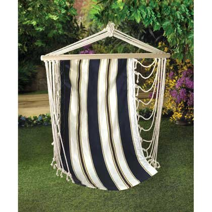 Nautical Hanging Chair Hammock Outdoor Portable Corner Swing Sunbrella Indoor Beach Family Seat Patio Backyard Decor