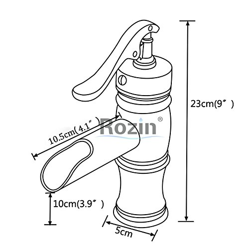 Rozin LED Light Waterfall Single Handle Basin Faucet with 8-inch Deck Plate Brushed Nickel by Rozin (Image #1)