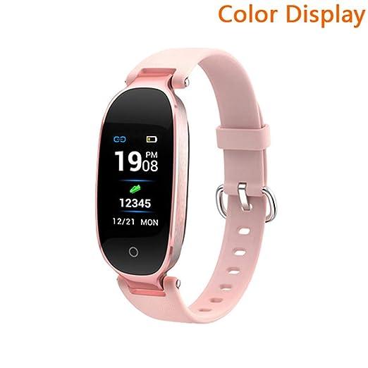 QLPP Reloj Inteligente Pantalla a Color Resistente al Agua ...
