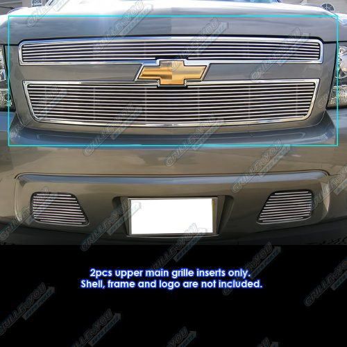 (APS Compatible with 2007-2014 Chevy Tahoe/Suburban/Avalanche Billet Grille Grill Insert #)