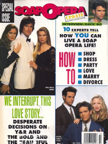 Michael Damian, Lauralee Bell, Christian Jules LeBlanc, Jeanne Cooper, Young and the Restless, Bold and the Beautiful - April 7, 1992 Soap Opera Update Magazine