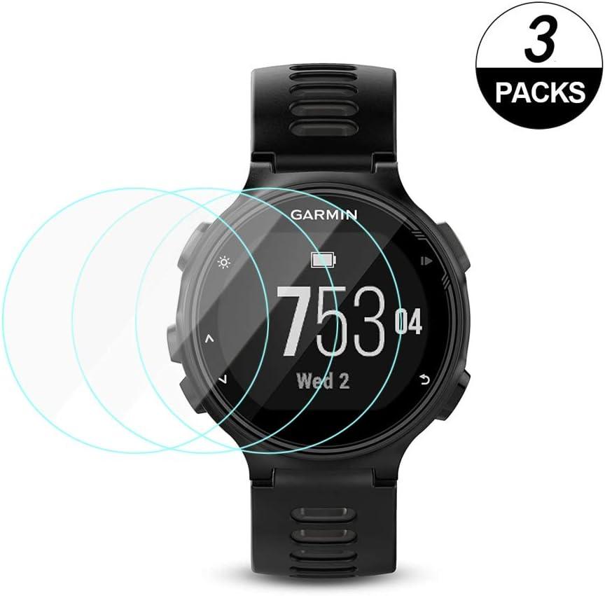 KOMET Forerunner 735XT Protector de pantalla de reloj compatible con Garmin Forerunner 735XT Protector de pantalla de reloj, protector de pantalla de cristal templado para (3 paquetes): Amazon.es: Electrónica