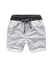 Mud Kingdom Boy Solid Color Casual Shorts Cotton