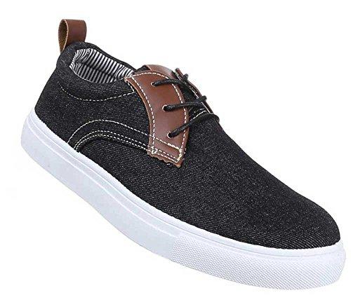 Herren-Schuhe Slipper | schicke Halbschuhe mit Schnürung in verschiedenen Farben und Größen | Schuhcity24 | Freizeitschuhe Schwarz