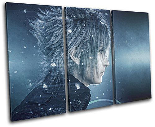 Bold Bloc Design - Final Fantasy XV XBOX ONE PS4 PC Gaming 90x60cm TREBLE Canvas Art Print Box Framed Picture Wall Hanging - Hand Made In The UK - Framed And Ready To Hang