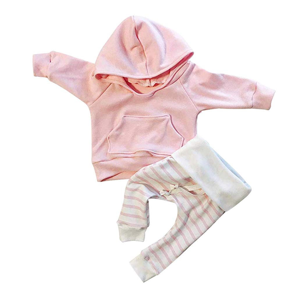 7464abaaa487 Amazon.com | Kshion Clearance Sale, Autumn Winter Toddler Infant Newborn  Baby Hoodie Long Sleeve Shirts Sweater Blouse Tops+Striped Pants Outfits |  Shoes