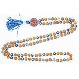 Buddhist Prayer Beads Necklace - Meditation Beads Rudraksha Lapiz Lazuli Yoga Mala Necklace Gift Her