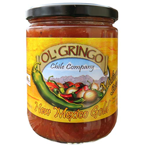 Ol' Gringo New Mexico Gold Salsa -Medium Heat- (16 oz Jar) Authentic Hatch Valley New Mexico Recipe