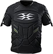 Empire Paintball Grind Pro Chest Protector, Large/X-Large, Black/Green