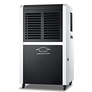 DOROSIN Dehumidifier, 130 Pint 17 Gallon Mobile Industrial Commercial Grade Air Dryer Large Capacity Auto Defrost Shut Off Dehumidifier for Basement, Space Up to 1300 Sp ft Home Warehouse Garage