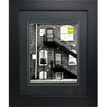 nexxt Metro Double Black Mat Picture Frame, 11 by 14-Inch Matted For 8 by 10-Inch, Black