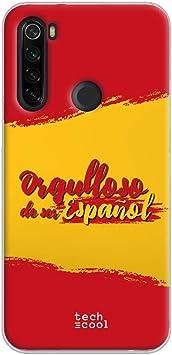 Funnytech® Funda Silicona para Xiaomi Redmi Note 8T [Gel Silicona Flexible, Diseño Exclusivo] Bandera España Orgulloso: Amazon.es: Electrónica
