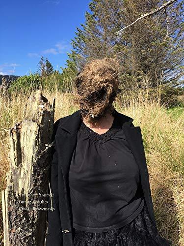 Burlap scarecrow mask - creepy mask - scary