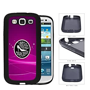 Girly Shoes Quote on Black Center Circle with Magenta Pink Background Samsung Galaxy S3 I9300 Rubber Silicone TPU Cell Phone Case