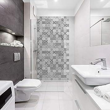 Panneau De Douche Decoratif Carreaux De Ciment 100x200cm