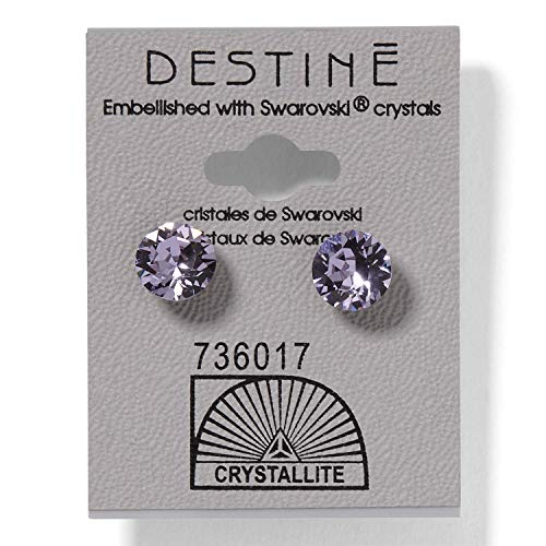 (Destine Violet Diamond Cut Earrings 8mm)